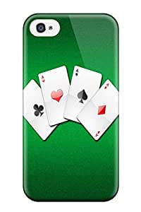 Juliam Beisel's Shop 6141640K25096415 New Cute Funny Poker Case Cover/ Iphone 4/4s Case Cover