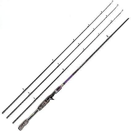 JOHNCOO Carbon Canne à Pêche Baitcasting Rod Lightweight 2