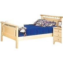 Bolton Furniture 9851N00 Bennington Bed Headboard and Footboard, Twin, Natural