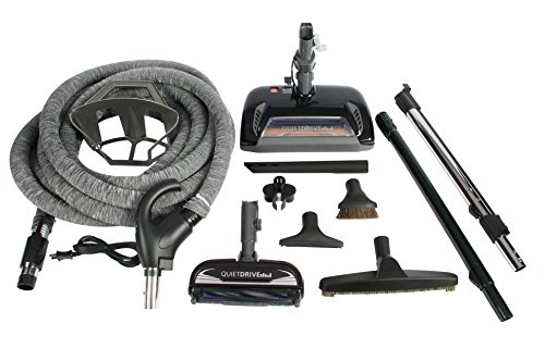 Cen-Tec Systems 91563 CT10QD and CT23QD Complete Central Vacuum Package, Black