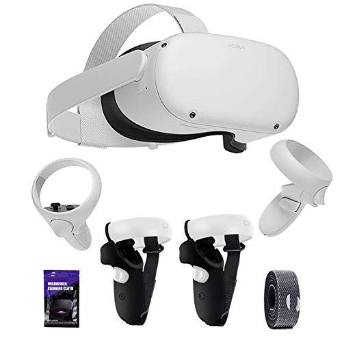 Oculus Quest 2 VR Headset 64GB Video, Advanced All-in-One Virtual Reality Gaming Headset, 3D Cinematic Sound, incluido con el juego de accesorios de cubierta protectora antideslizante TSBEAU