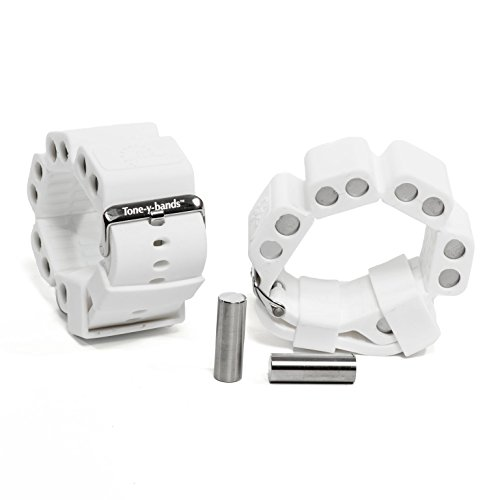 Tone-y-Bands | Wrist Weights | Dance, Home Workouts, Sports Weights | White | 1/2 lb Each | 1 lb per Set | 1 Pair