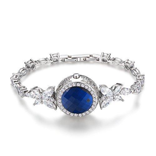 Activity tracker Pedometer Bracelet Calorie Counter 925 Sterling Silver Jewellry Swarovski Jewelry for Women