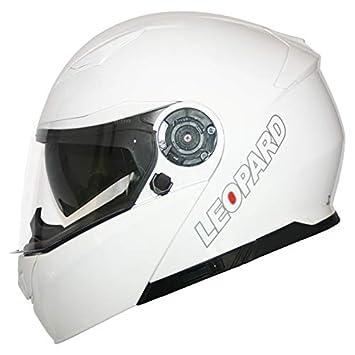 Leopard Casco Modular de Motocicleta con Visera Doble, LEO-888 DVS