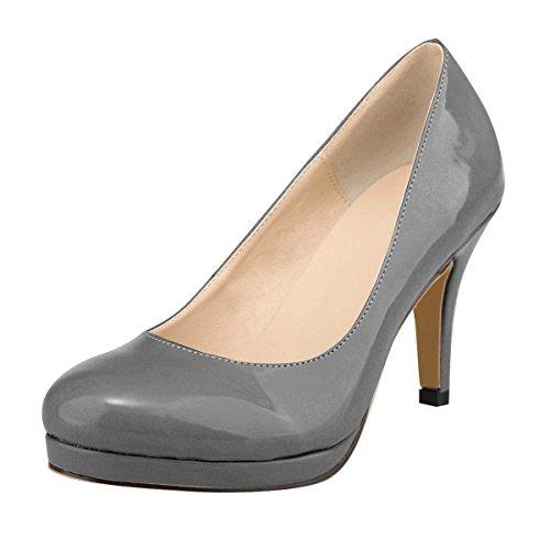 Sangle de cheville plateformes peep toes high heels sandales à lanières Chaussures barely there