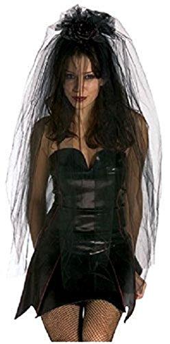 [Black Gothic Bride Veil - Goth] (Black Veil Bride Costume)