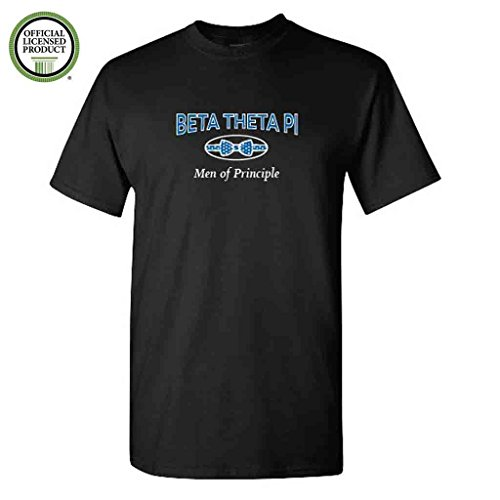 (Beta Theta Pi Short Sleeve Tshirt- Bowtie #2- Great Shirts for Beta Theta Pi Rush (XLarge, Black))