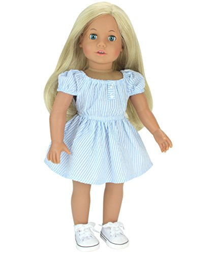 White Doll Sneakers fit American Girl Dolls, 18 Inch Doll White Shoes in Canvas - http://coolthings.us