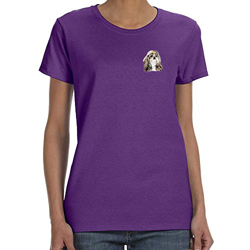 Shih Tzu Embroidered T-shirt - 1