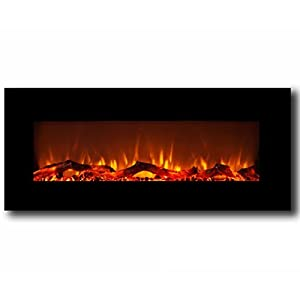 Amazon.com: Moda Flame Houston 50 Inch Electric Wall Mounted ...