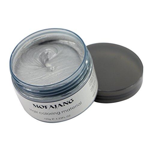 Mofajang Hair Wax Dye Styling Cream Mud, Natural Hairstyle Color Pomade, Washable Temporary, Gray by MOFAJANG (Image #3)