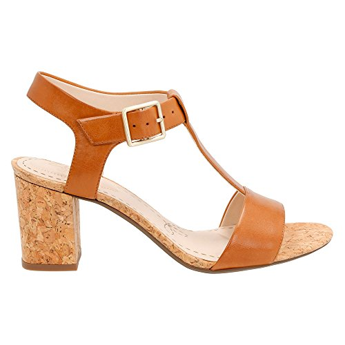 Clarks Womens Smart Deva Sandali In Pelle Marrone Chiaro