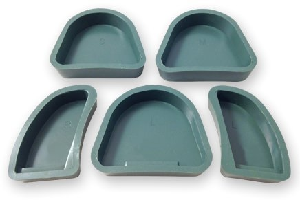 IVORIE® Dental Lab Green Silicone Base Formers