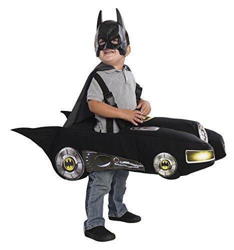 Cheap Batman And Robin Costumes (Rubie's Batmobile Batman Costume, Black, Toddler)