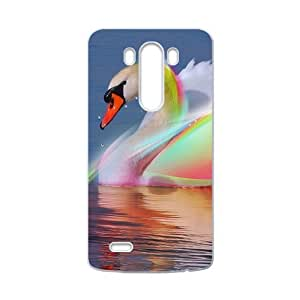 Colorful shiny swimming swan Phone Case for LG G3