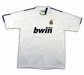 Camiseta del Real Madrid temporada 2011 con licencia oficial (L): Amazon.es: Deportes y aire libre