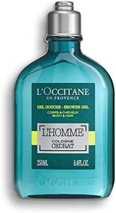 L'Occitane L'Homme Cologne Cedrat Shower Gel Body & Hair, 8.4 Fl Oz