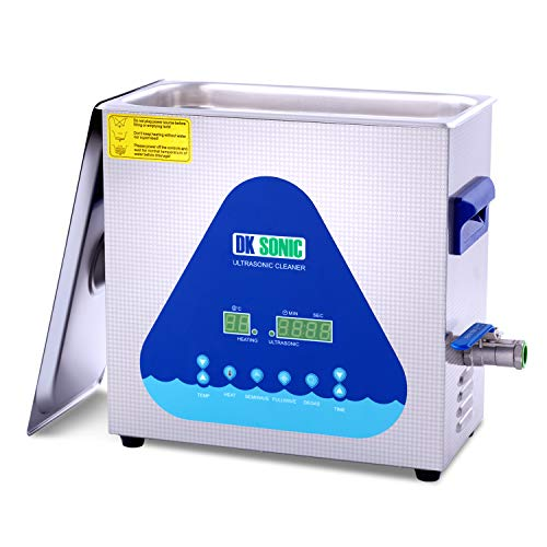 Professional Ultrasonic Cleaner-DK SONIC 6L 180W Sonic Cleaner with Heater and Basket for Metal Parts, Carburetor,Fuel Injector,Record,Circuit Board,Brass,Engine Parts,Tableware,Home Repair Tool,etc