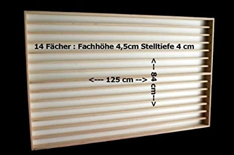 V84 Vitrine Spur N /& Z Setzkasten 14 Fächer 115cm Sammlervitrine Schaukasten