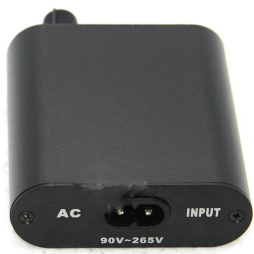 Black Mini LCD Digital Tattoo Power Supply Clip Cord Foot Pedal Kit