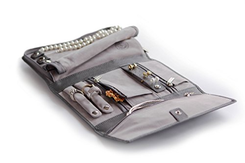 Saffiano Leather Travel Jewelry Case - Jewelry Organizer [Petite] by Case Elegance by case Elegance (Image #4)