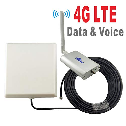 65dB 700MHz AT&T T-Mobile Cell Phone Signal Booster for Home and Office 4G  LTE Band12/17 FDD LTE Mobile Phone Signal Amplifier Including 45 Feet RG58
