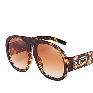 big frame frog mirror ladies sunglasses diamond inlay pearls sunglasses trend sunglasses,3