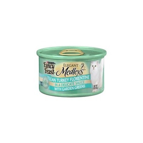 Fancy Feast Elegant Medleys Lean Turkey Florentine with Garden Greens (24/3-oz cans)