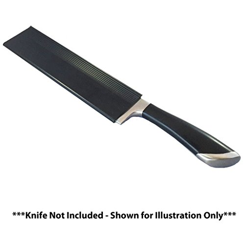 A Cut Above Cutlery 8 Inch Universal Kitchen Knife Sheath, Fits Chef's Knives, Santoku Blades, Carving Knives, Bread Knives from Any Manufacturer. Protect Your Kitchen Knives Like A Pro Chef (Knife Sleeve)