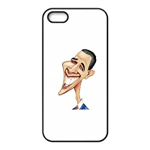 Barack Obama Caricature iPhone 4 4s Cell Phone Case Black phone component RT_337265