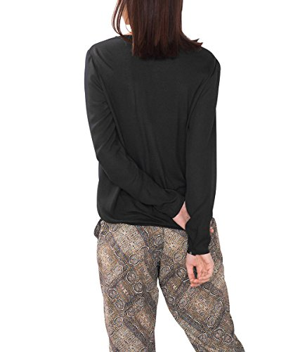 ESPRIT 086ee1f035, Blusa para Mujer Negro (BLACK 001)