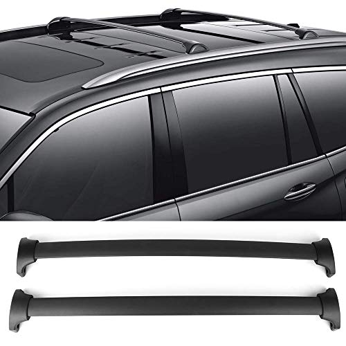 -2018 Honda Pilot | OEM Style Black Cross Bar Bars Luggage Carrier by IKON MOTORSPORTS ()