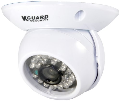 KGUARD SecurityInc. CAM KIT-HD227CPK  600TVL 65-Feet Night Vision Indoor Day and Night Dome Camera (White) Review