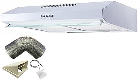 Sia v60wh 60 cm blanco visera + 1 m Conducto para extractor de cocina campana: Amazon.es: Grandes electrodomésticos