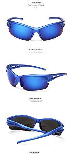 hommes de vent coupe Miroir plein et en vélo style sable montagne air femmes de Bleu verres CHshop Accessoires Boîte Bleue 5Fqw88