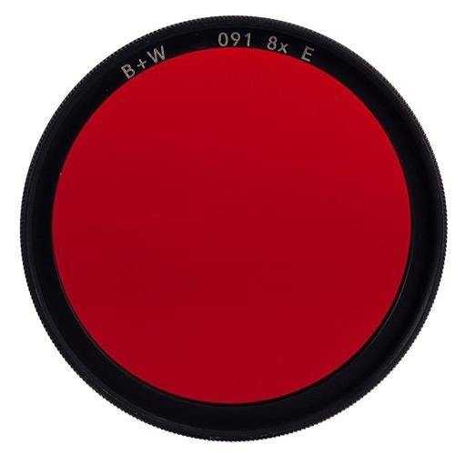 B + W 82mm #091 Multi Coated Glass Filter - Dark Red #29