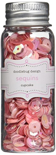 Doodlebug Design Cupcake (Doodlebug Kraft in Color Assorted Sequins, Cupcake)