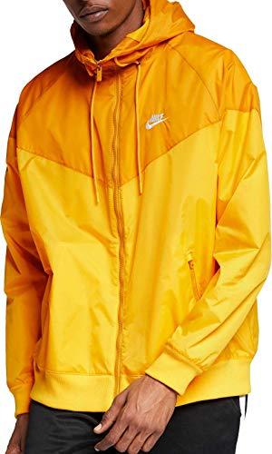 (Nike Mens Sportswear 2019 Hooded Windrunner Jacket (Amarillo/Gold Dart/Large))