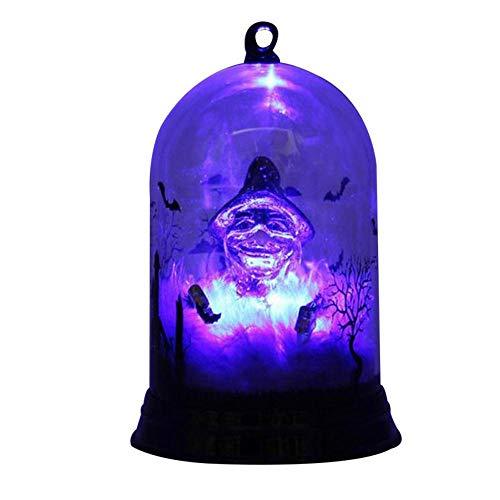 Aolvo Evil Pumpkin Light Fantasy Halloween Evil Pumpkin/Witch Light,Perfect for Bar Decor,Party Decor,Gift,3.5