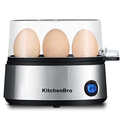Egg Cooker 3 Egg Capacity Electric, Ellipse, KitchenBro Stai