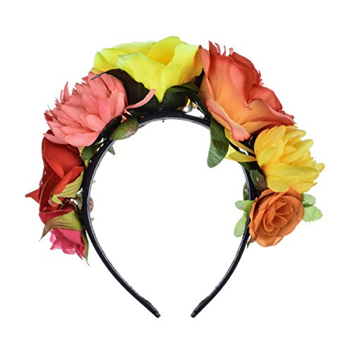 DreamLily Frida Kahlo Mexican Flower Crown Headband Party