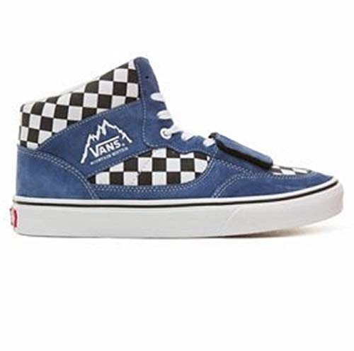 Vans Sk8-Hi Unisex Casual High-Top Skate Shoes (10 Women/8.5 Men, Blue/Black (Mountain Edition))