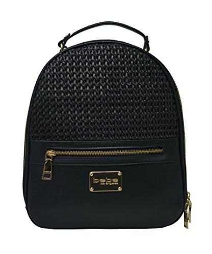 Bebe Designer (bebe Bonnie Faux Leather Woven Backpack)