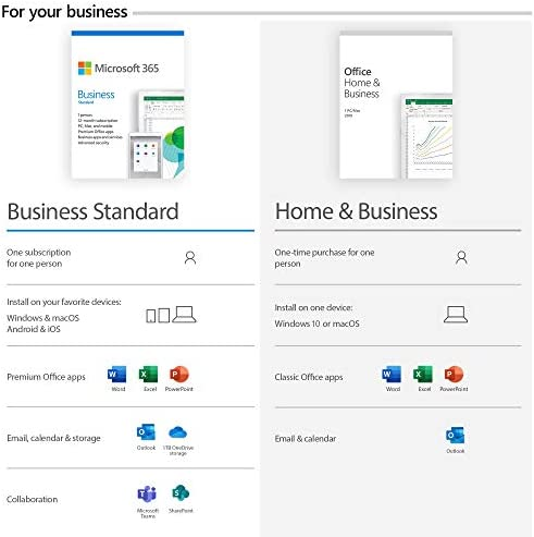 Microsoft Office Home and Business 2019 Download 1 Person Compatible on Windows 10 and Apple MacOS WeeklyReviewer