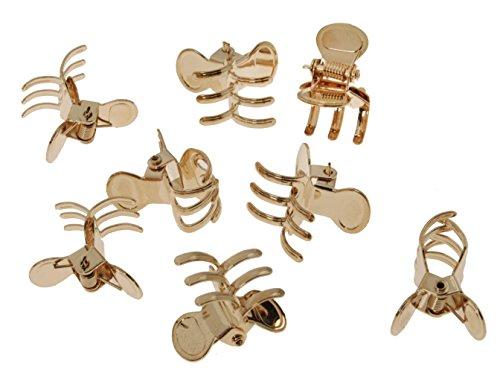 L. Erickson Mini Metal Jaw Clip & Go 8-Pack - Gold