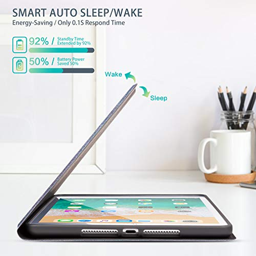 MARINAVIDA iPad 10.2 Case iPad 7th Generation 2019 Case, iPad 8th Generation 2020 Case, Full Protective Leather Case, Auto Sleep/Wake, Multi-Angle Smart Stand Cover for iPad 7th/8th Gen(Colorful Cat)