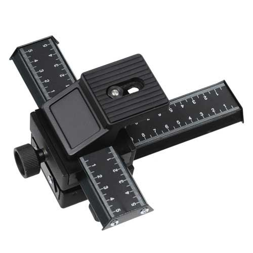 Fotodiox Macro-Rail-4 Fotodiox 4-Way Macro Focusing Rail - with Fine Tuning Control, Tripod Mountable - for Canon, Nikon, Sony, Olympus, Pentax, Panasonic, Samsung Cameras - Black