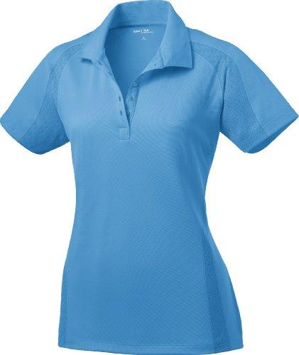 Sport-Tek Ladies Dri-Mesh Pro Performance Polo Shirt L474 XL Carolina Blue