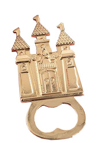 108 Fashioncraft Castle Themed Gold Metal Bottle Opener Wedding Anniversary Bridal Shower Baby Shower Birthday Party Souvenir Favors