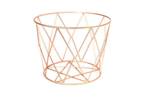 Alchemade Wire Storage Basket - Hand-Made Multi-Purpose Office Kitchen Organizer Holder Bin - Contemporary Industrial Style - Made